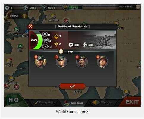World Conqueror 3 1.2.20 Apk + Mod (many medals) for android